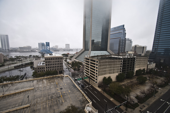 Rainy Downtown Jacksonville, February 5, 2011