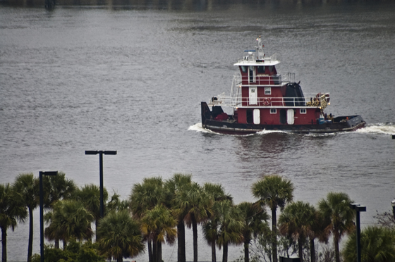 Tug boat on the St. Johns River, Jacksonville, FL