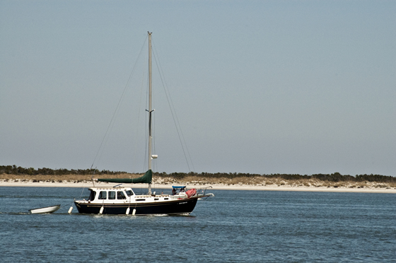 Sailboat on the Amelia River