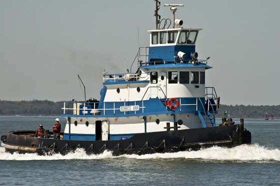 Tug boat on the Amelia River
