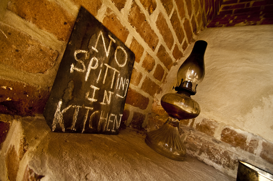 No Spitting in Kitchen